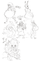 Feb25 Stream Sketches by RiddleAugust