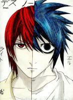 Light and L-Face to Face by Uzumaki-Akane-sama