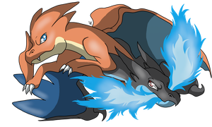 Charizard X and Y by ThePiage