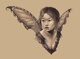 Faerie portrait by AutumnEmbers