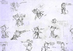 Chibi sketch dump by xSPYROTHEDRAGONx