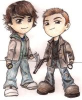The Winchester Chibis by DiTheCreator