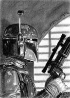 Boba Fett Sketch Card 2 by khinson