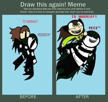 Draw this again meme~ by MoaTheOreoQueen