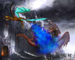 Dragonfight by sedsone