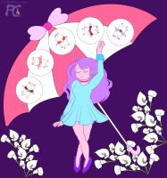 Bee and PuppyCat Umbrella Mucha by kelseyleah