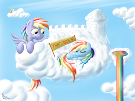 The most awesome fort in all of Equestria by FilPaperSoul