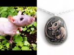 Custom Hairless Rat Pendant Necklace by sobeyondthis