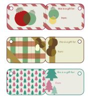Vintage Holiday Gift Tags by LoveTehBomb