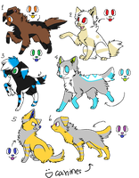 4 Pt Canine Adopts~ ALL GONE by DeerNTheHeadlights