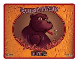 Rude Bear Beer by Ironear