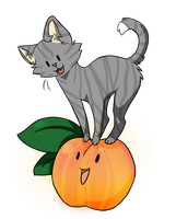 The Peach and the Kitten by PitaBred