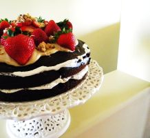 Chocolate Strawberry Torte 2 by TantalizedBaker