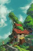 House on a hill by toshi13go