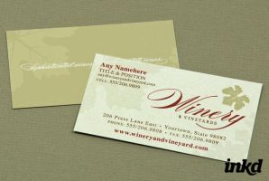 Rustic Winery Business Card by inkddesign