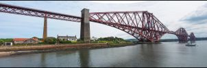 Newly Painted Forth Bridge by sags