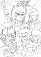 Saint Seiya - draft #2 by Gugaaa