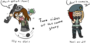 Two sides of the same story by Zangoosie