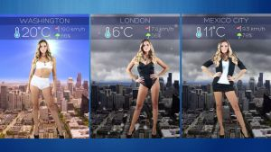 Clara Morgane Sexy Meteo Widget 4x4 for xwidget by jimking