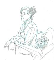 Another Candid Sketch of ma Woman by mistermuck