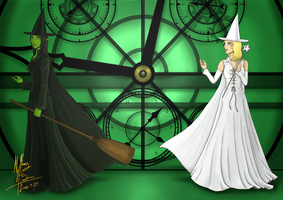 Wicked - Elphaba and Glinda by rikouchan