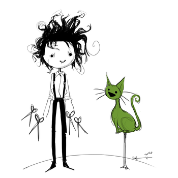 edward scissorhands by EmmaGuinnip