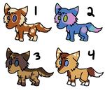 -ADOPT UPDATE- Wolf/Dog Adoption 2 - 2 LEFT by Spychedelic