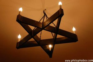 pentagram candleholder by Philophobos