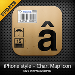 iPhone style - Char. map icon by YaroManzarek