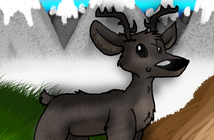 Old Art: Reindeer Number Two by Azailiathefox