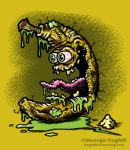 Bad Banana Lowbrow Food Cartoon Character Sketch by gcoghill