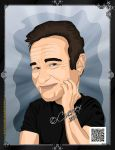 Robin Williams by Cuervex
