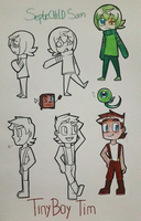 [Cartoon-Styled] SepticChild Sam + Tiny Boy Tim by DatWeirdoWhoLuvsMilk