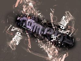Grungy abstract wallpaper by tomphy