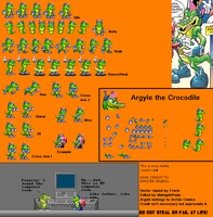 Argyle The Crocodile Advance 1 by MidnightPrime