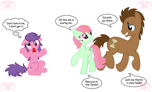 MLP:The Doctor,Minty,+theFakie by KPenDragon