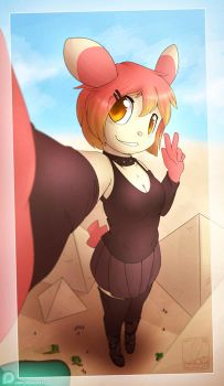 Patreon Request: Shorty Visiting the Pyramids by Hakunaro