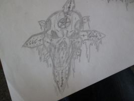 Skull and cross by Benni-M
