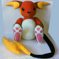 Shiny Raichu Plush by AustraliumSiren