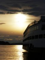 Seattle Ferry at Sunset by andras120
