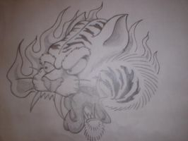 Cool Tiger Head by Freddyferd
