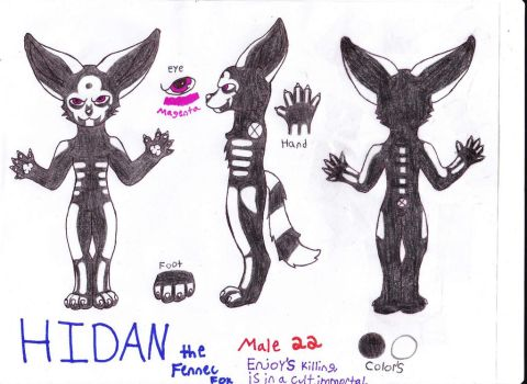Hidan Reference Sheet by CurruptedCynder