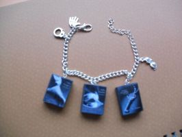 Fifty Shades of Grey book charm bracelet by InsaneJellyBean95