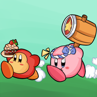 Kirby Tuesday- Hammer Kirby by thegamingdrawer