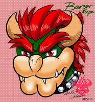 Yet ANOTHER Bowser head by Bowser2Queen