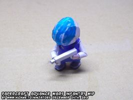 Papercraft Advance Wars Black Hole Infantry WIP by ninjatoespapercraft