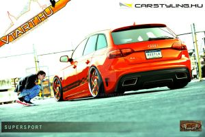 Audi A4 avant tuning show car by rookiejeno