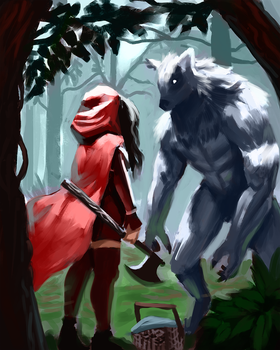 Little Red and the Wolf by Rhydwyn