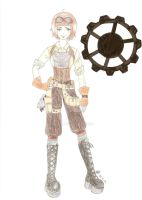 Steampunk outfit design COLOR by Mlaa