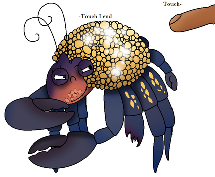 Shine crab with hoarding tendancies by biscuit-the-bunny